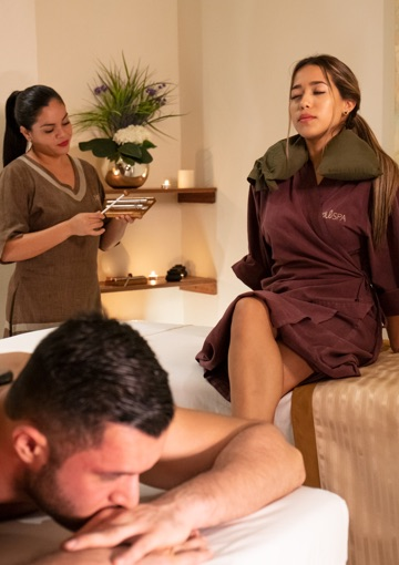 Couple enjoying a spa day in Puerto Vallarta